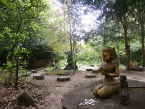 Jardins du temple boudhiste