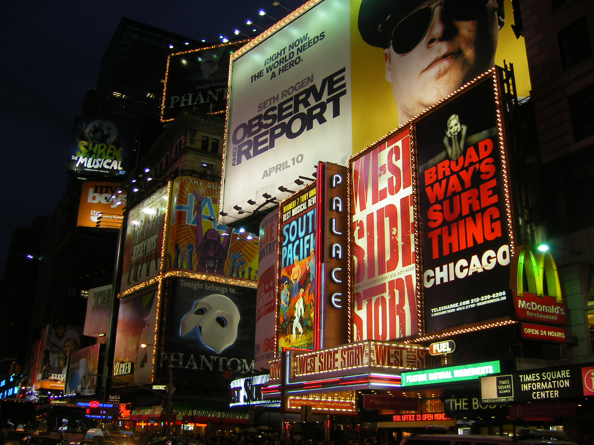 Times Square, New-York, Pâques 2009