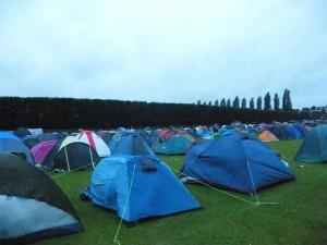 5h du matin, les campeurs nous ont devancé!