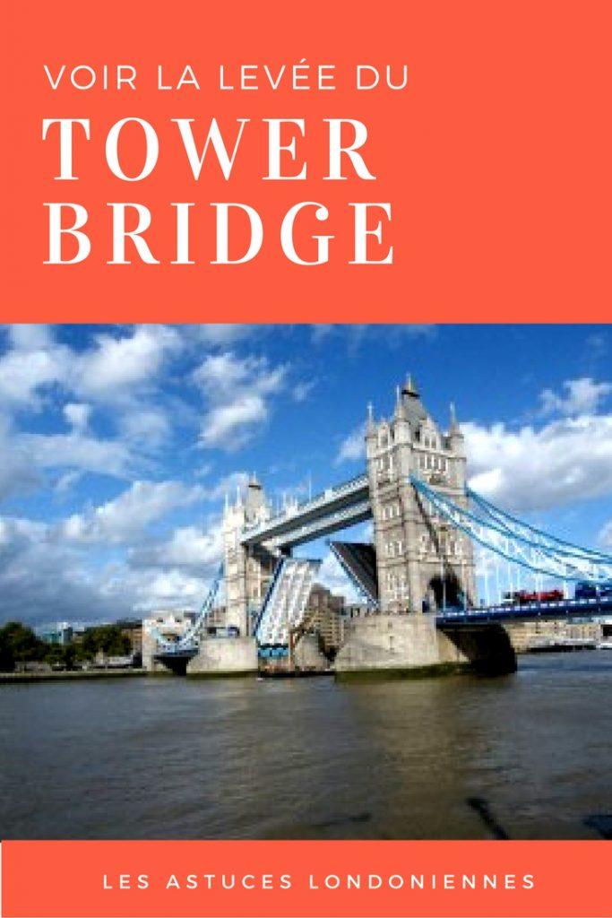 Comment voir la levée du Tower Bridge à Londres? Une astuce londonienne