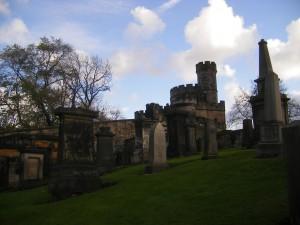 Un cimetière à Edimbourg