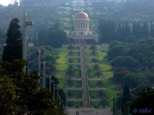 Sanctuaire et jardins Bahais, à Haifa