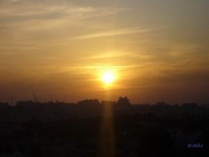 Coucher de soleil sur la ville moderne, Jérusalem