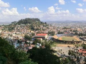Antanarivo, vue panoramique du centre ville