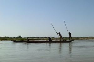 Piroguiers remontant la Tsiribihina (3j aller, 6 retour), Est de Mada