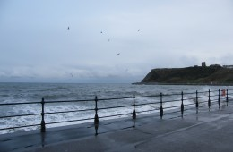 La mer du Nord quelque peu agitée