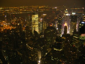 En haut de l'Empire State Building