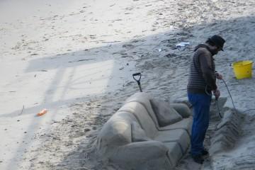Sculptire sur sable