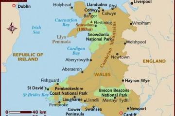 Carte du Pays de Galles