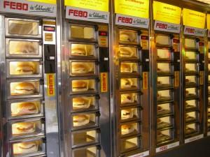 Un distributeur de hamburgers et autres délicatesses, beurk