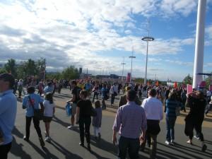La foule dans le Parc Olympique