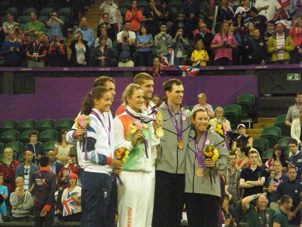 Les médaillés du double mixte