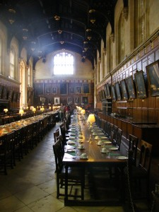 "Le réfectoire ou ""Grand Hall"" de Christchurch College"