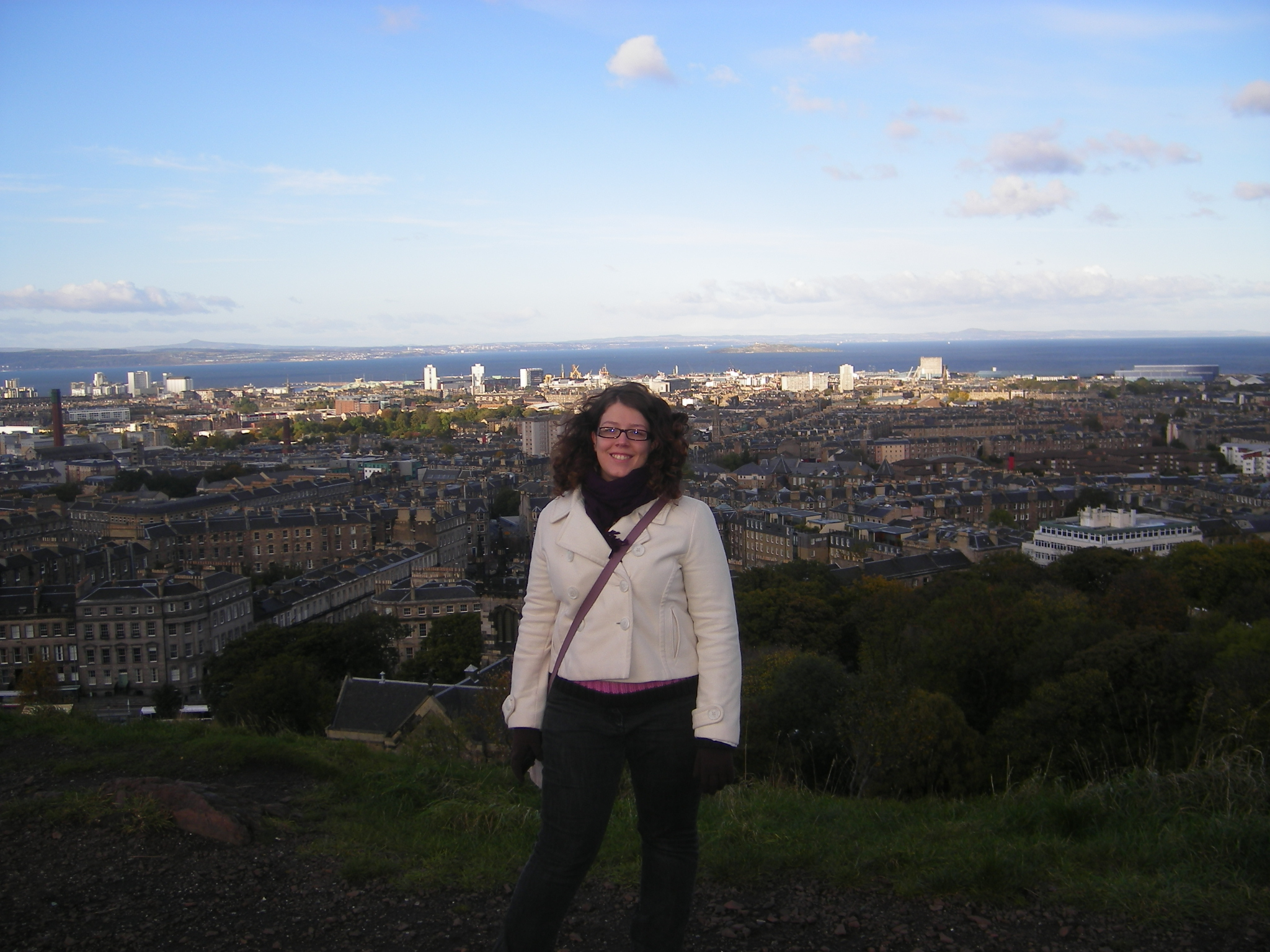 En haut de Carlton Hill à Edimbourg