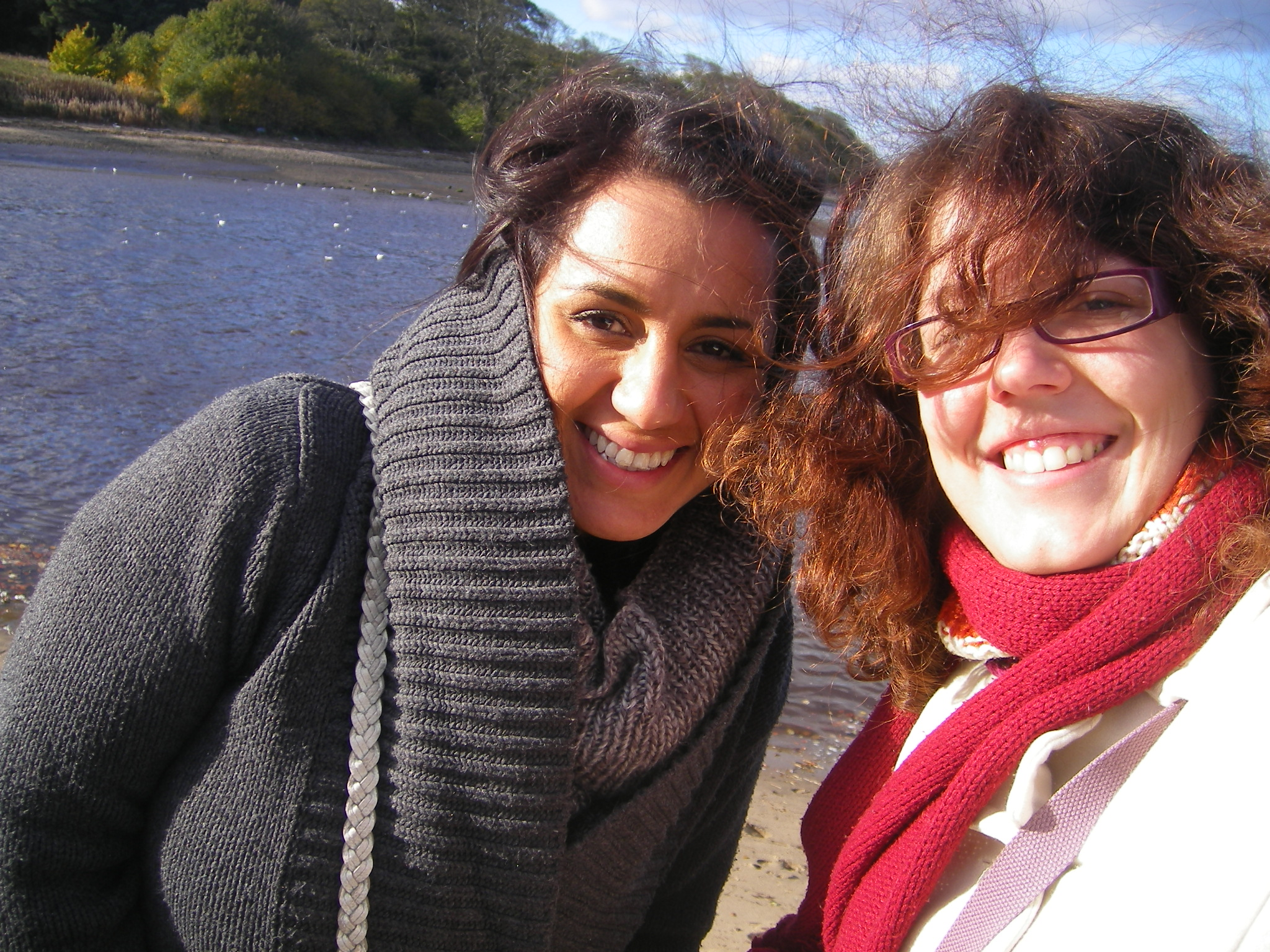 Avec mon hôte Couchsurfing à Edimbourg, Azita