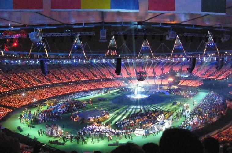 Le stade durant la cérémonie de clôture