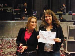 Avec Emily, après le concert des Killers