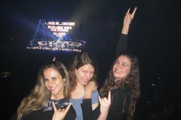 Avec Vivienne et Marcella pendant le concert