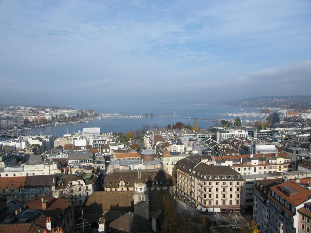Vue sur Genève et le Lac Léman