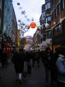 Décorations de Noël de Carnaby Street