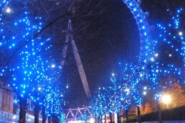 London Eye et décorations de Noël