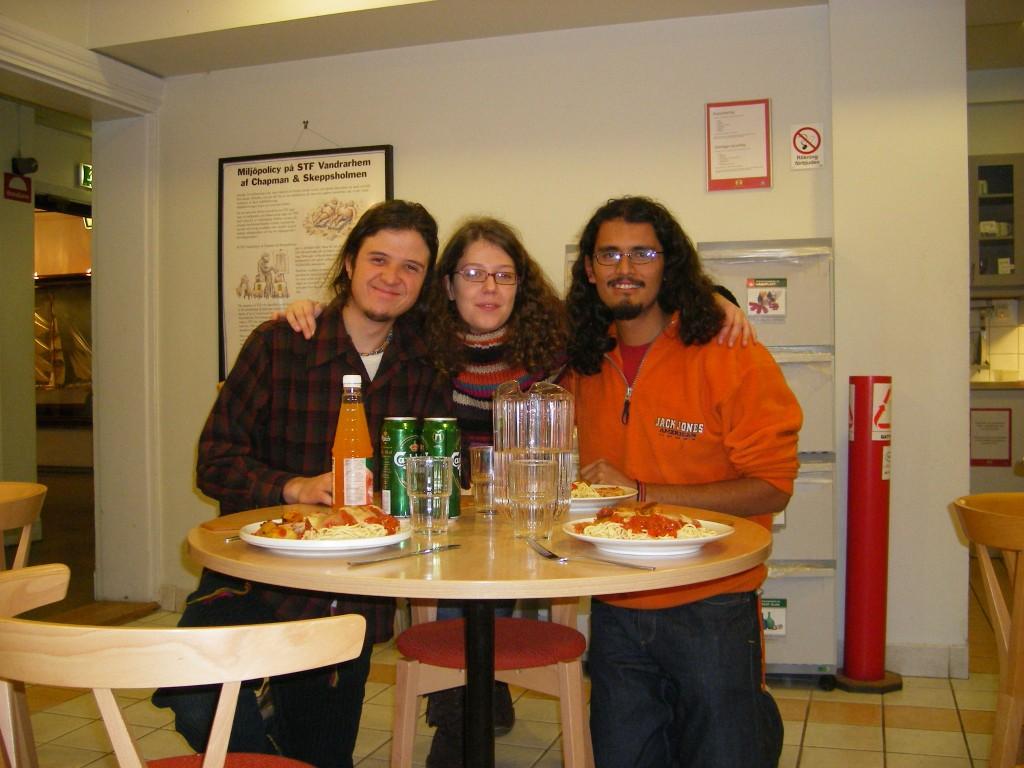 Réveillon de Noël à l'auberge de jeunesse avec Sergio et Luis