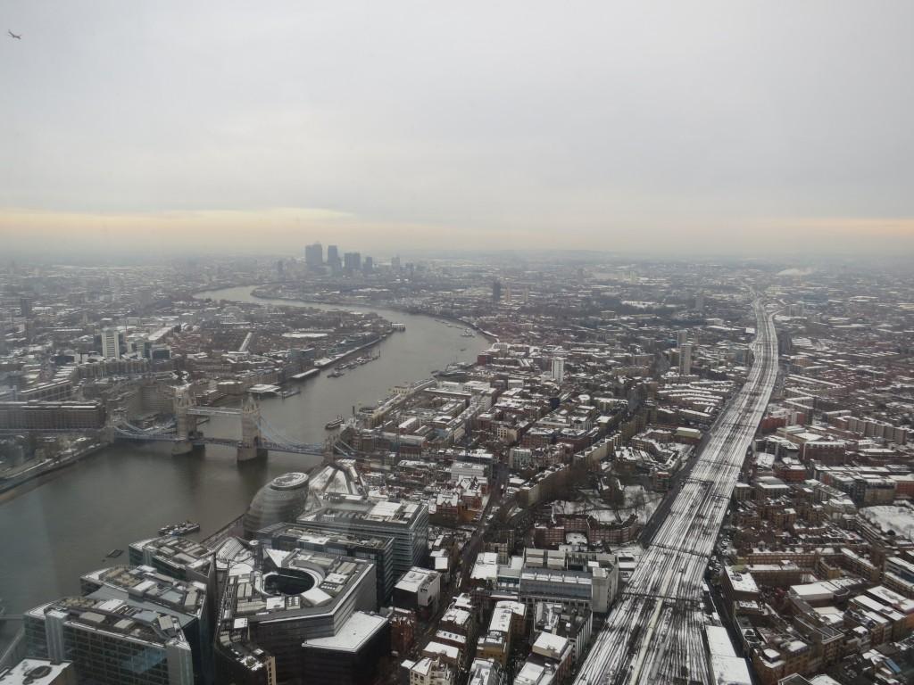 Londres sous la neige