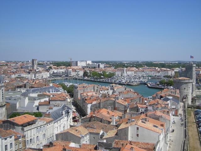 Vue sur la Rochelle