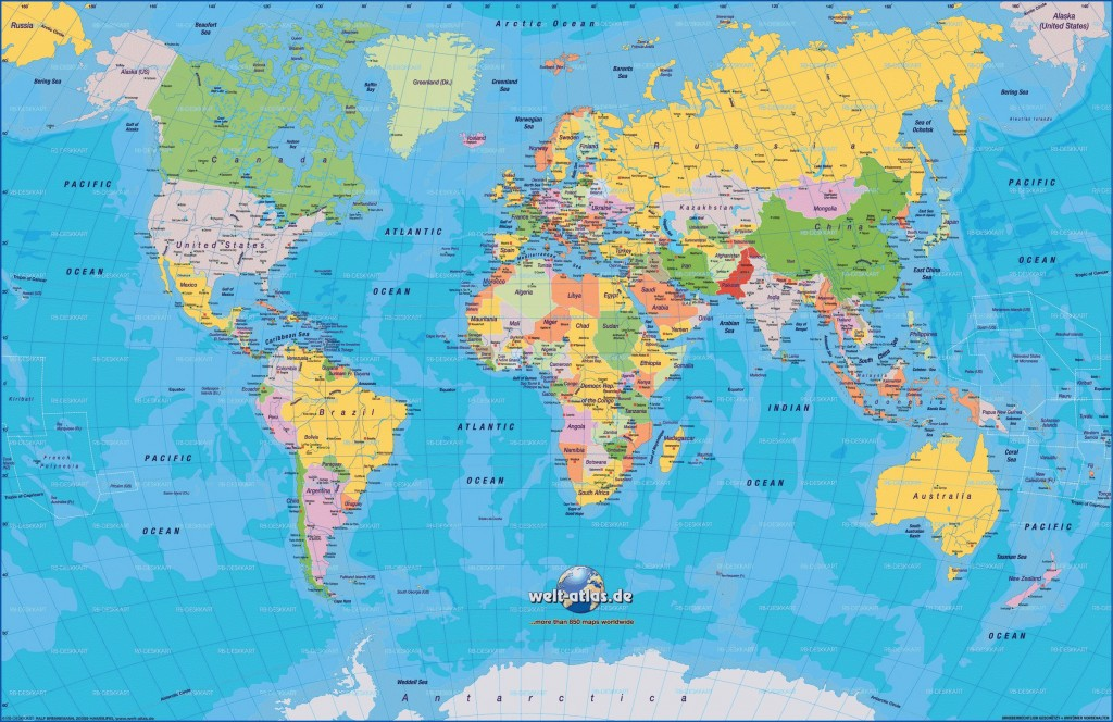 Carte du monde, tour du monde