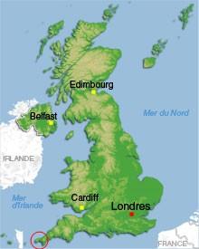 Carte Royaume-Uni - Cornouailles