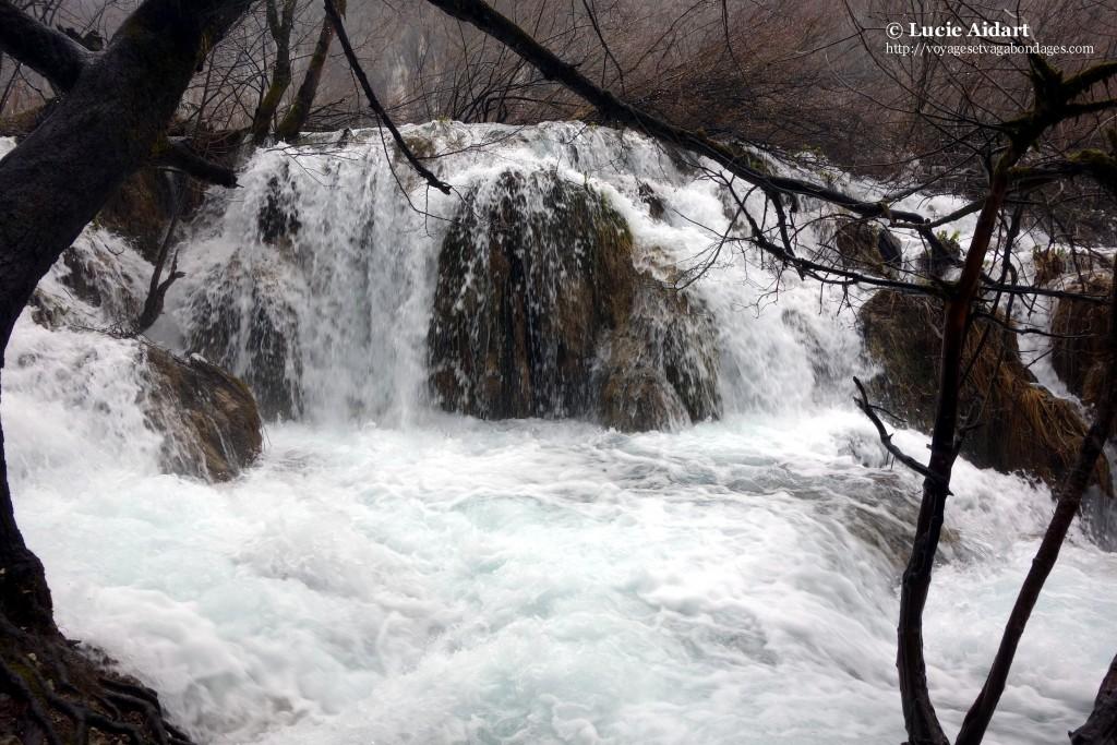 Puissance des chutes d'eau - Plitvice