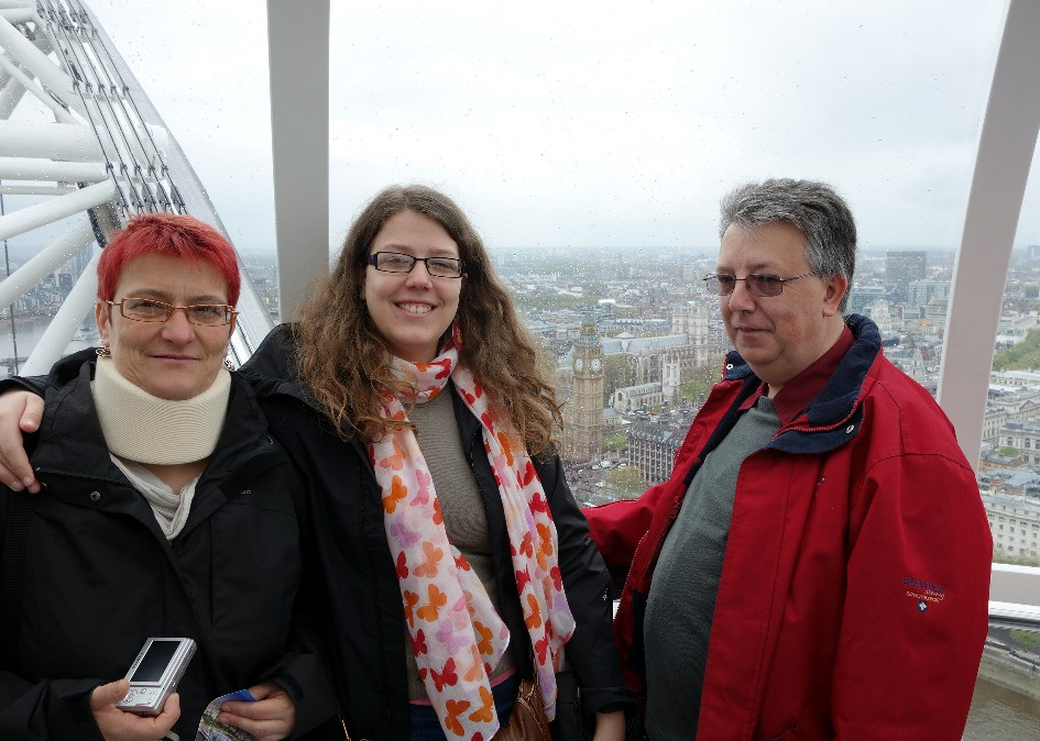 Avec mes parents, dans le London Eye