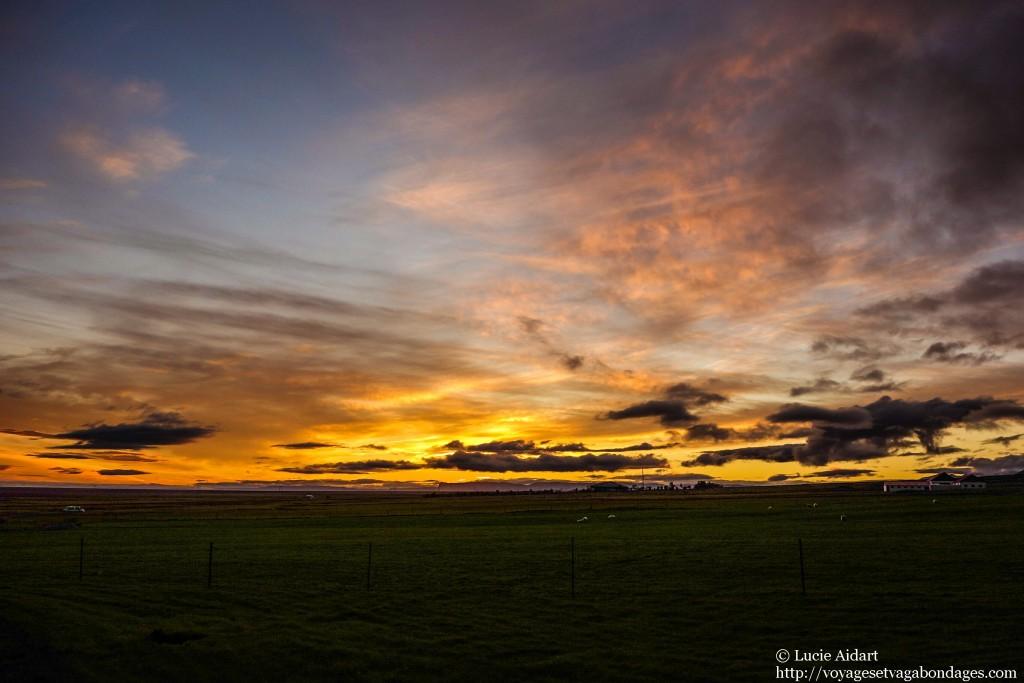 Coucher de soleil islandais