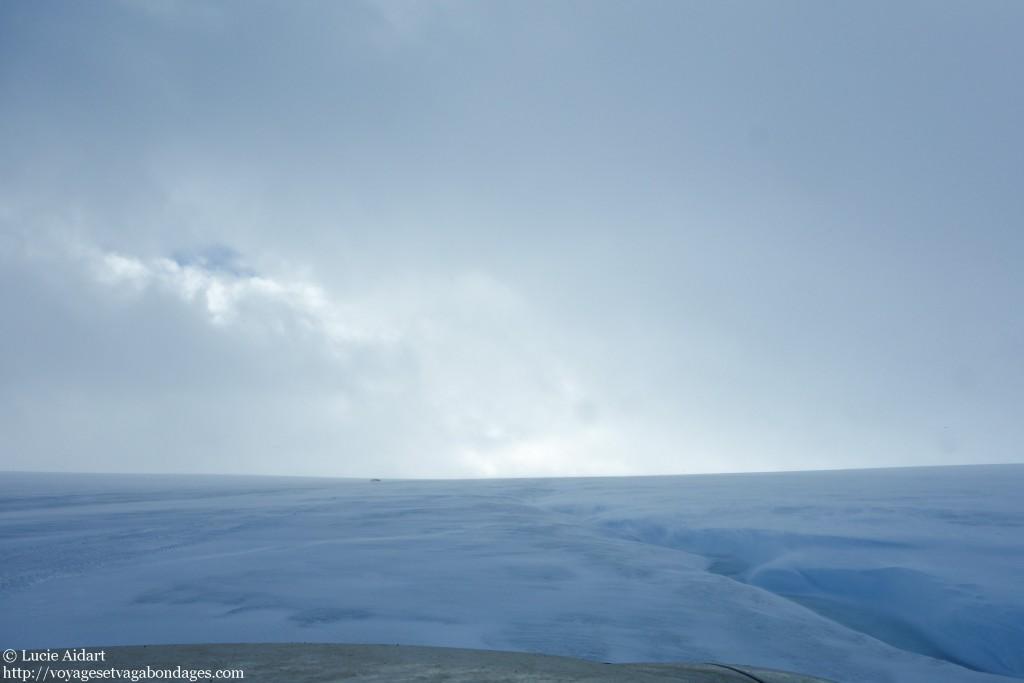 Conduite sur glacier
