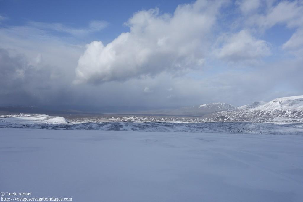 La vue sur le glacier