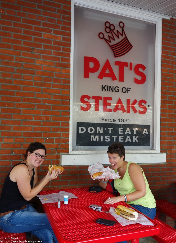 Dégustation de cheesesteak avec Sarah