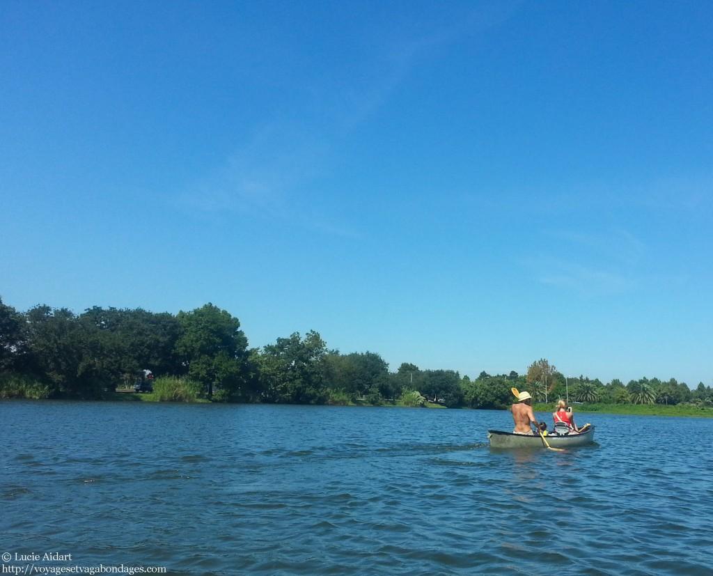 Kayak sur le bayou