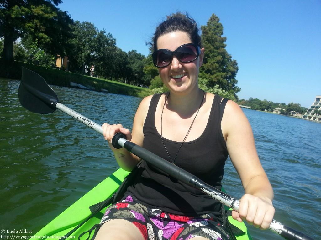 Sarah, pro du kayak