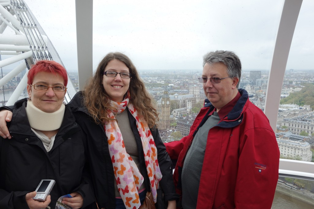 Mes parents et moi sur le London Eye