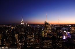 Coucher de soleil sur New-York