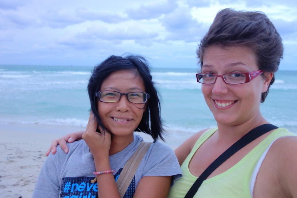 Avec Michelle à Miami
