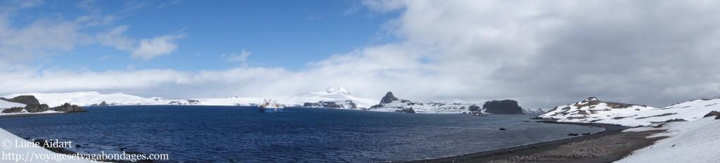 Paysages panoramiques de l'Antarctique