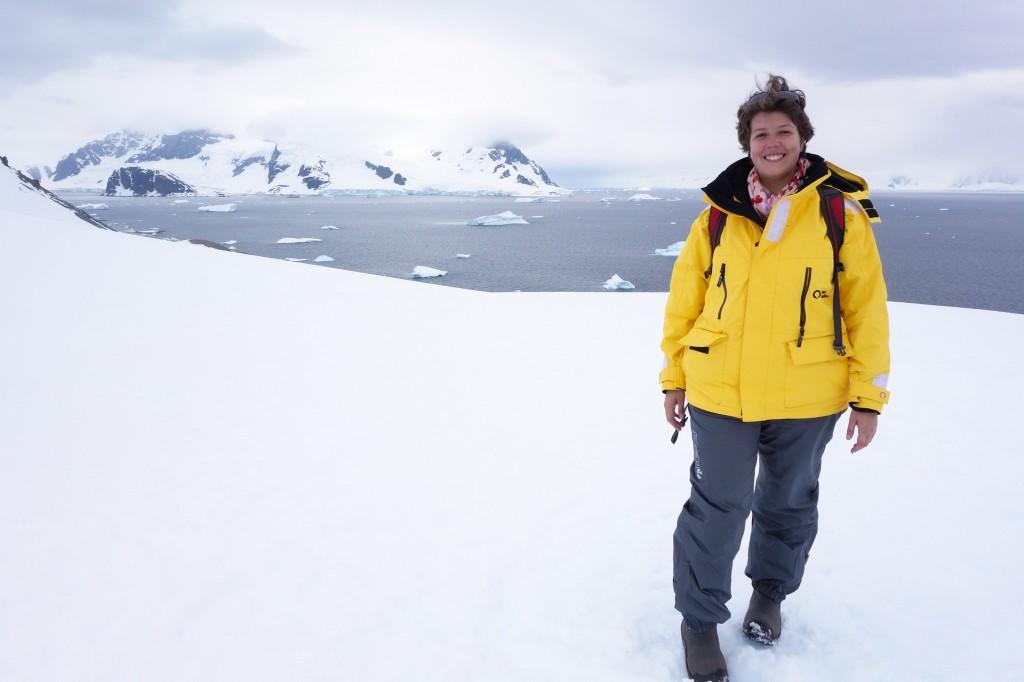 J'ai mis le pied en Antarctique
