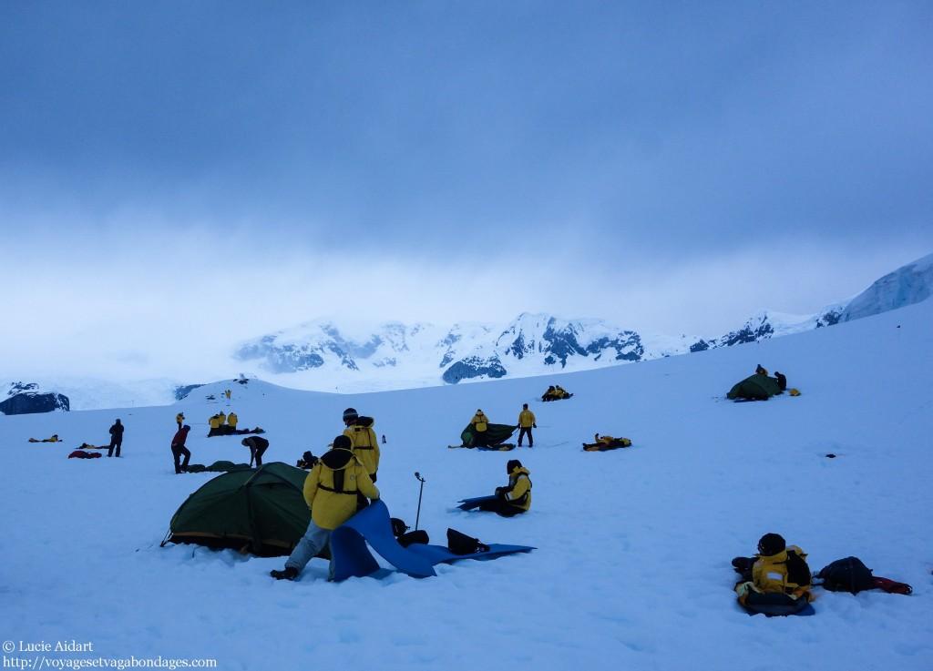 Notre campement - faire du camping en Antarctique
