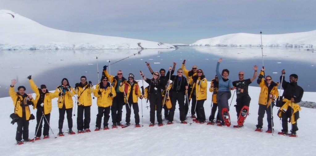 Randonnée en raquettes en Antarctique
