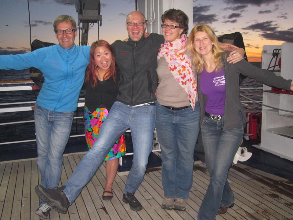 Dernière soirée sur le bateau avec Markus, Sally, Thomas et Barbara - Voyage en Antarctique