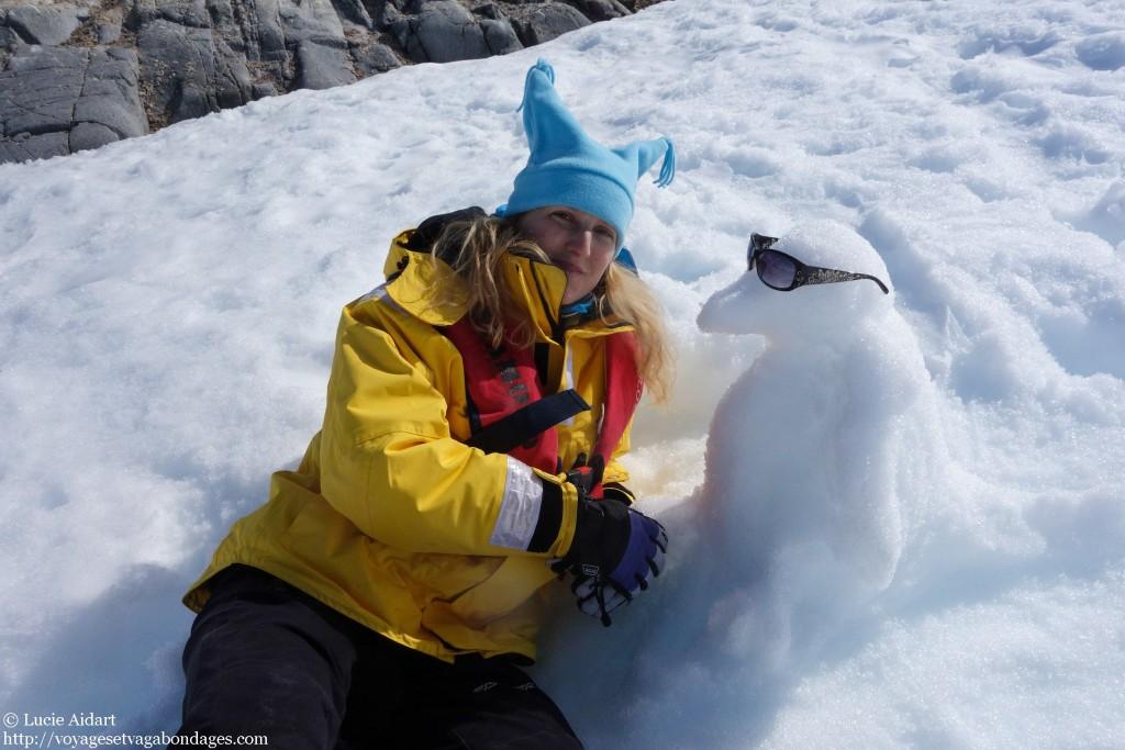 Barbara et son manchot - Le denier jour en Antarctique