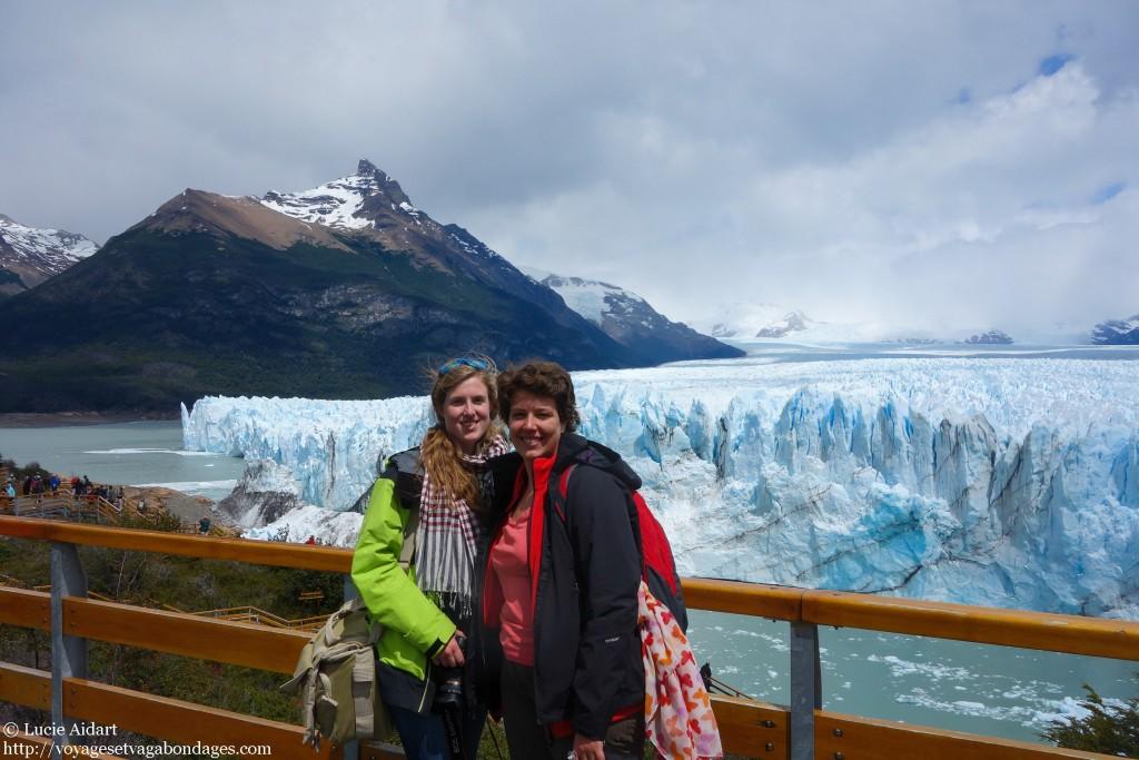 Avec Sophie au Glacier Perito Moreno