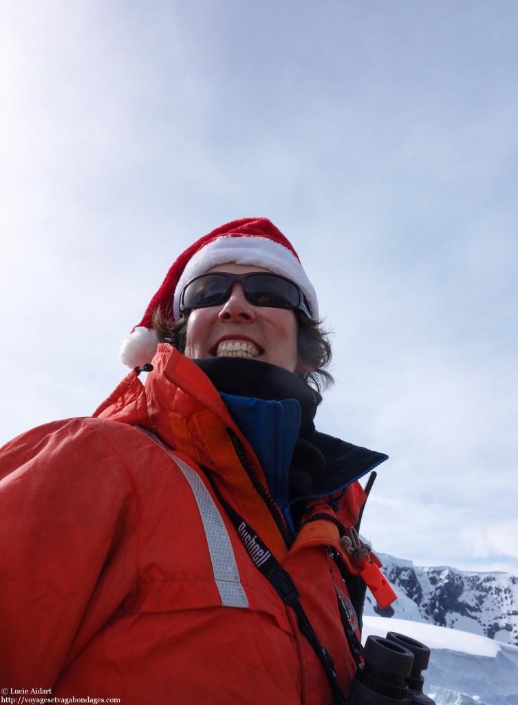 Merryl au pilotage - Fêter Noël en Antarctique
