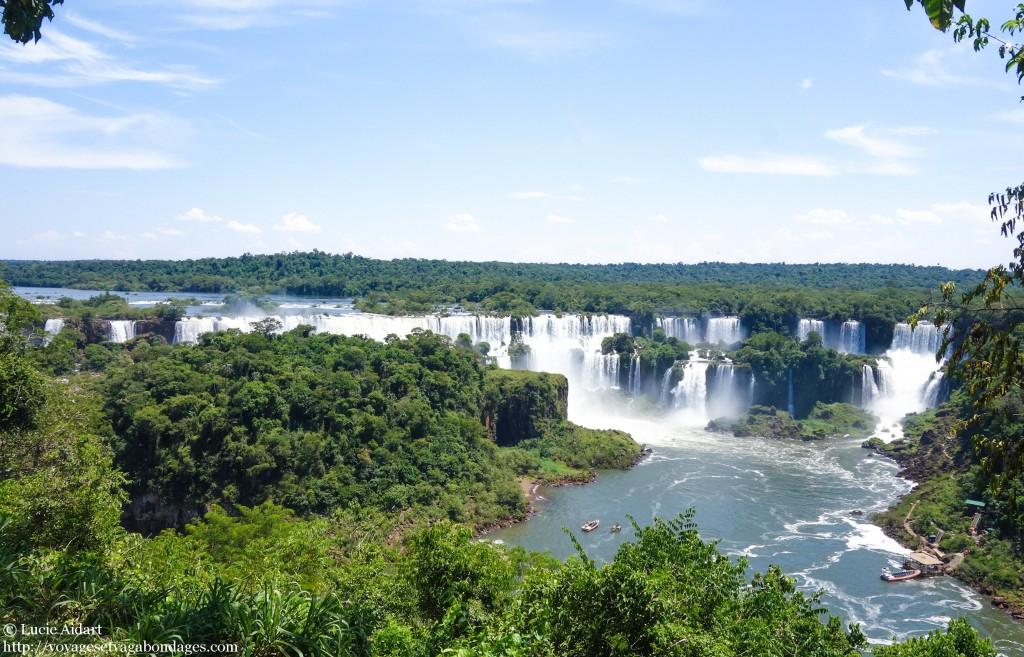 Vue panoramique sur les Chutes du côté brésilien